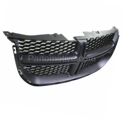 Aftermarket Replacement - GRL-1329C CAPA 11-15 Grand Caravan Front Grill Grille Black Shell & Insert 68100689AC - Image 2