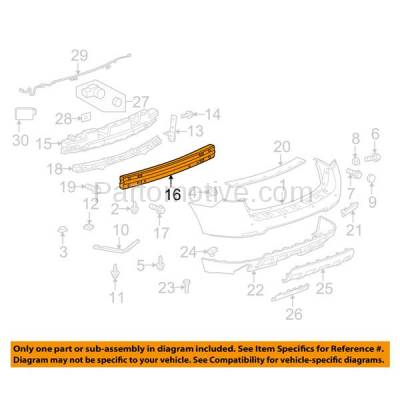 Aftermarket Replacement - BRF-1332RC 2010-2017 Chevrolet Equinox & GMC Terrain Rear Bumper Impact Face Bar Crossmember Reinforcement Beam Primed Made of Steel - Image 3