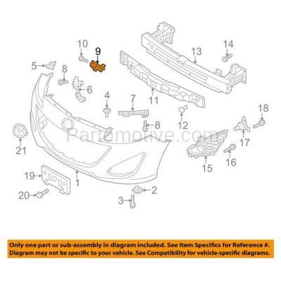 Aftermarket Replacement - BRT-1097FL & BRT-1097FR 2012-2017 Mazda 5 Front Bumper Cover Retainer Mounting Brace Reinforcement Support Bracket SET PAIR Right Passenger & Left Driver Side - Image 3