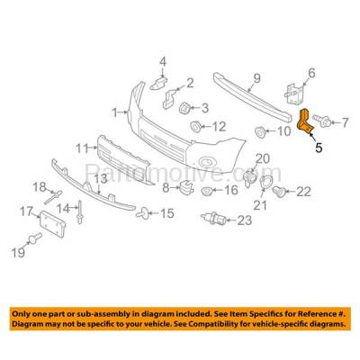 Aftermarket Replacement - FDS-1013RC CAPA For 08-12 Escape Front Fender Brace Support Bracket Right Passenger Side - Image 3