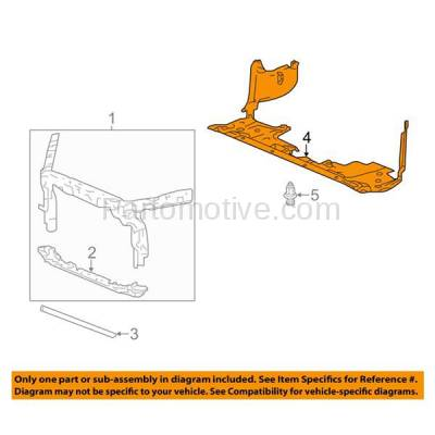 Aftermarket Replacement - ESS-1247C 2013-2017 Honda Accord Coupe/Sedan (2.4 Liter with 4-Cylinder) Front (Lower Section) Engine Under Cover Splash Shield Guard Air Deflector Plastic - Image 3