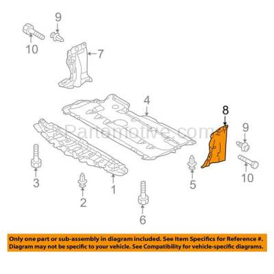 Aftermarket Replacement - ESS-1427C CAPA For 04-09 Mazda3 06-10 Mazda5 Rear Engine Splash Shield Under Cover Driver - Image 3