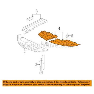 Aftermarket Replacement - ESS-1408RC CAPA For 07-12 ES350 Engine Splash Shield Under Cover Passenger Side 5144133120 - Image 3