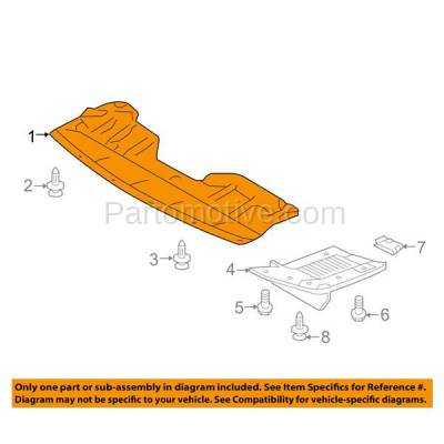 Aftermarket Replacement - ESS-1533C CAPA For Front Engine Splash Shield Under Cover For 08-13 Rogue & 14-15 Select - Image 3