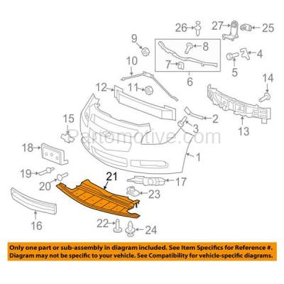Aftermarket Replacement - ESS-1219C CAPA For 08-12 Chevy Malibu Engine Splash Shield Under Cover Undercar 15826166 - Image 3