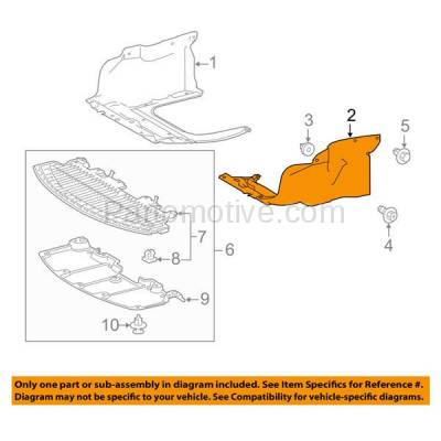 Aftermarket Replacement - ESS-1592LC 2014-2016 Toyota Corolla 1.8L (with Automatic CVT Transmission) Front Engine Under Cover Splash Shield Undercar Guard Left Driver Side - Image 3