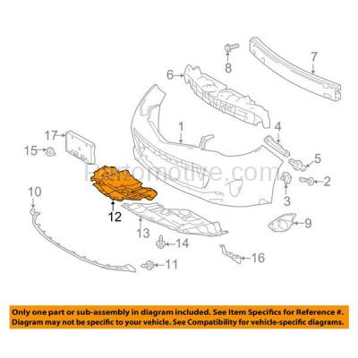 Aftermarket Replacement - ESS-1594RC CAPA For 13-15 Avalon Front Engine Splash Shield Under Cover RH Passenger Side - Image 3