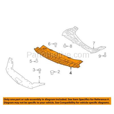 Aftermarket Replacement - ESS-1507C 2015-2019 Nissan Sentra (FE+S, Nismo, S, SL, SR, SR Turbo, SV) Front Forward Engine Under Cover Splash Shield Undercar Guard Plastic - Image 3
