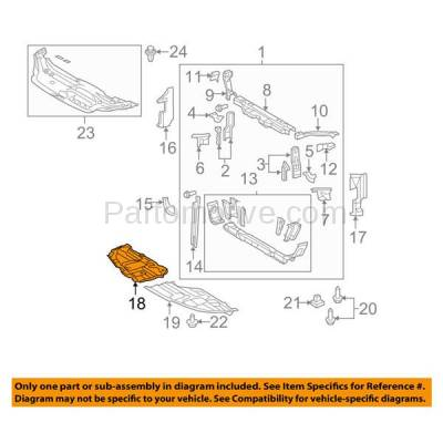 Aftermarket Replacement - ESS-1619RC CAPA For 05-10 Avalon Front Engine Splash Shield Under Cover Guard Right Side - Image 3