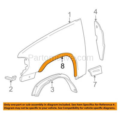 Aftermarket Replacement - FDF-1033RC CAPA For 07-17 Wrangler JK Front Fender Flare Wheel Opening Molding Trim Right - Image 3