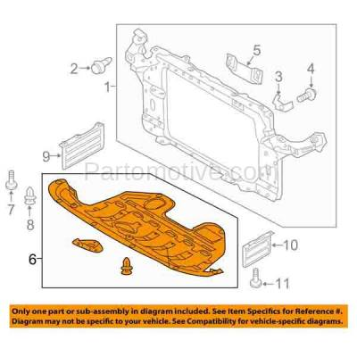 Aftermarket Replacement - ESS-1290C CAPA For Front Engine Splash Shield Under Cover Fits 10-13 Tucson 291102S000 - Image 3