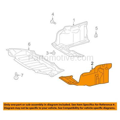 Aftermarket Replacement - ESS-1635LC CAPA For 09-14 Matrix Engine Splash Shield Under Cover Manual Trans Driver Side - Image 3