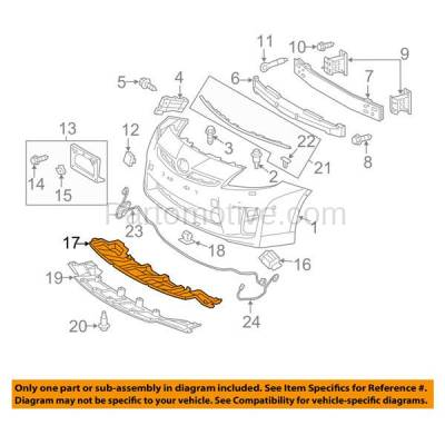 Aftermarket Replacement - ESS-1587C CAPA For 12-15 Prius Front Engine Splash Shield Under Cover Undercar 5261847050 - Image 3