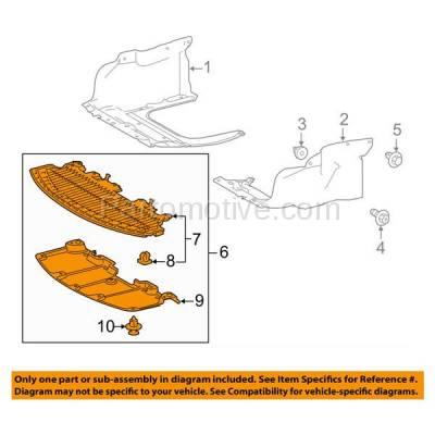 Aftermarket Replacement - ESS-1599C 2014-2016 Toyota Corolla (Sedan 4-Door) 1.8L (2 Piece Set) Front Engine Under Cover Splash Shield Undercar Guard Air Deflector Plastic - Image 3