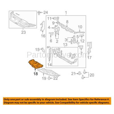 Aftermarket Replacement - ESS-1611RC CAPA For 11-12 Avalon Front Engine Splash Shield Under Cover Guard Right Side - Image 3