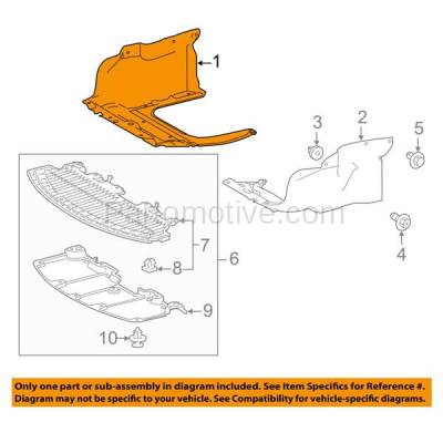 Aftermarket Replacement - ESS-1591RC 2014-2019 Toyota Corolla 1.8L Sedan Front Engine Under Cover Splash Shield Undercar Guard Air Deflector Plastic Right Passenger Side - Image 3