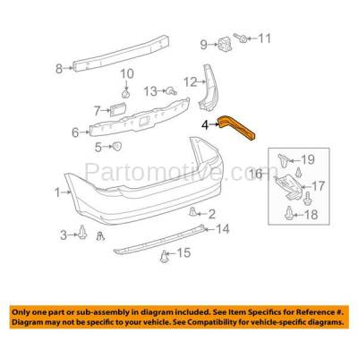 Aftermarket Replacement - BRT-1177RL & BRT-1177RR 04-09 Prius Hatchback Rear Bumper Cover Face Bar Retainer Mounting Brace Reinforcement Support Bracket Plastic SET PAIR Right Passenger & Left Driver Side - Image 3