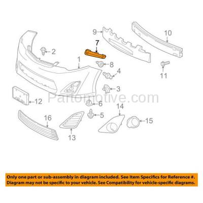 Aftermarket Replacement - BRT-1194FL & BRT-1194FR 12-14 Camry & Camry Hybrid Front Bumper Cover Face Bar Retainer Mounting Brace Reinforcement Support Bracket Plastic SET PAIR Right Passenger & Left Driver Side - Image 3