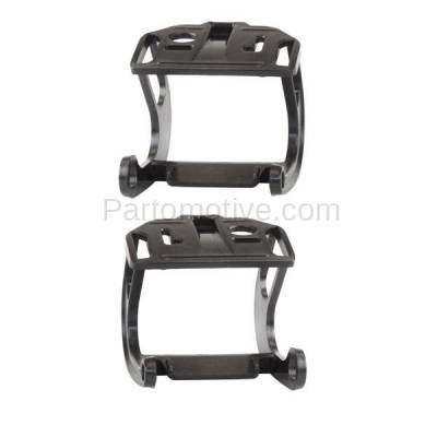 Aftermarket Replacement - BRT-1007FL & BRT-1007FR 11-13 5-Series (without M Package) Front Bumper Retainer Mounting Brace Reinforcement Support Black Plastic SET PAIR Left Driver & Right Passenger Side - Image 2