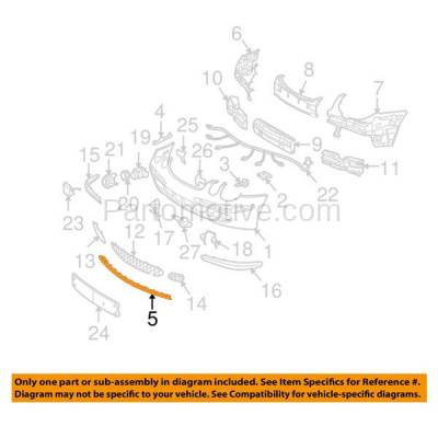 Aftermarket Replacement - VLC-1308F 03-06 E-Class Front Bumper Lower Spoiler Lip Valance Air Dam Deflector Apron Garnish Panel Primed - Image 3