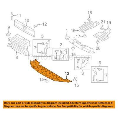 Aftermarket Replacement - ESS-1673 13-16 Escape Front Lower Valance Air Dam Deflector Engine Splash Shield Undercar Plastic Black - Image 3