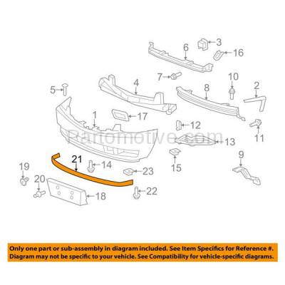 Aftermarket Replacement - VLC-1203F 07-14 Escalade & ESV/EXT Front Bumper Lower Spoiler Valance Air Dam Deflector Apron Garnish Panel Textured - Image 3