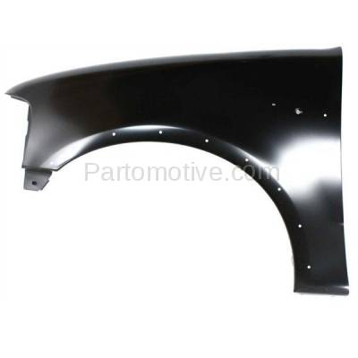 Aftermarket Replacement - FDR-1294LC 1997-2002 Ford Expedition & 1997-2003 F150/F250 & 2004 F150 Heritage Pickup Truck Front Fender (with Molding Holes) Left Driver Side - Image 1