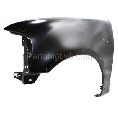 Aftermarket Replacement - FDR-1294LC 1997-2002 Ford Expedition & 1997-2003 F150/F250 & 2004 F150 Heritage Pickup Truck Front Fender (with Molding Holes) Left Driver Side - Image 2