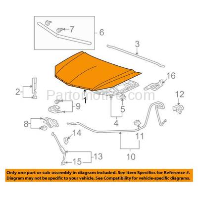 Aftermarket Replacement - HDD-1006 2007-2009 Acura RDX 2.3L Front Hood Panel Assembly Primed Steel - Image 3