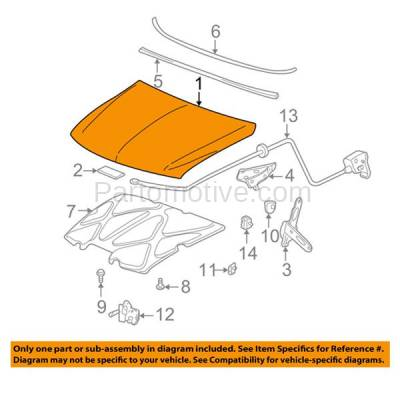Aftermarket Replacement - HDD-1248 2002-2006 Avalanche & 2003-2005 Chevy Silverado 1500 & 2003-2004 1500HD/2500/2500HD/3500 Pickup Truck Front Hood Panel Assembly Primed Steel - Image 3