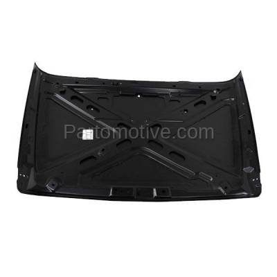 Aftermarket Replacement - HDD-1105 2007-2012 Jeep Wrangler (Rubicon, Sahara, Sport, Unlimited, X, X-S) V6 (Standard Type) Front Hood Panel Assembly Primed Steel - Image 3