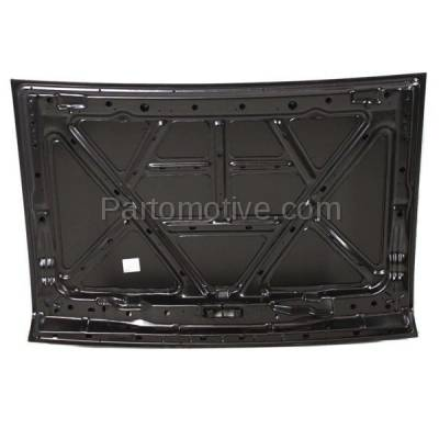 Aftermarket Replacement - HDD-1551 1993-1997 Nissan D21 Pickup Truck (Base, SE, XE) Standard & Extended Cab 2-Door (2.4 & 3.0 Liter) Front Hood Panel Assembly Primed Steel - Image 3