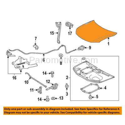 Aftermarket Replacement - HDD-1616 2011-2013 Scion tC (Coupe 2-Door) (2.5 Liter Engine) Front Hood Panel Assembly Primed Steel - Image 3