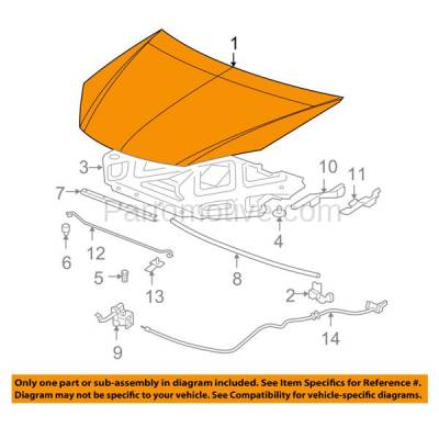 Aftermarket Replacement - HDD-1276 2005-2010 Pontiac G6 (Base, GT, GTP, GXP) Coupe, Convertible, Sedan Front Hood Panel Assembly Primed Steel - Image 3