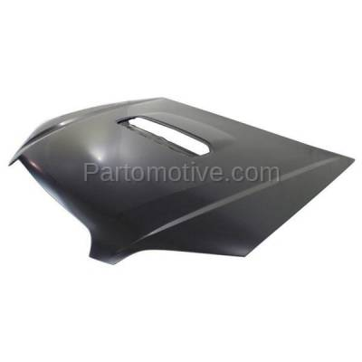 Aftermarket Replacement - HDD-1628 2005-2009 Subaru Legacy & 2005-2007 Outback (GT, GT Limited, GT spec.B, XT, XT Limited) Sedan & Wagon 2.5L Turbo Front Hood Panel Primed Steel - Image 2