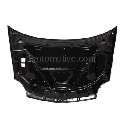 Aftermarket Replacement - HDD-1080 2001-2005 Dodge/Plymouth Neon (ACR, ES, High Line, LX, R/T, SE, SXT) & 2003-2005 SX 2.0 (Sedan 4-Door) 2.0L Front Hood Panel Assembly Primed Steel - Image 3