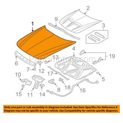 Aftermarket Replacement - HDD-1230 1999-2005 Pontiac Grand Am (GT, GT1, SE, SE1, SE2) Coupe & Sedan (without Ram Air Package) Front Hood Panel Assembly Primed Steel - Image 3
