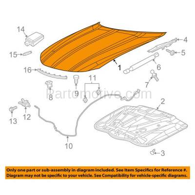 Aftermarket Replacement - HDD-1134 2015-2018 2018 Dodge Charger (Sedan 4-Door) (Models with Non-Functional Scoop or Standard Type) Front Hood Panel Assembly Primed Steel - Image 3