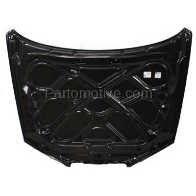 Aftermarket Replacement - HDD-1389 2001-2003 Hyundai Elantra (GLS, GT) 2.0 Liter Engine (Hatchback & Sedan) Front Hood Panel Assembly Primed Steel - Image 3