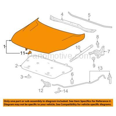 Aftermarket Replacement - HDD-1319 2013-2015 Chevrolet Malibu & 2016 Chevy Malibu Limited (Eco, LS, LT, LTZ) Sedan 4-Door Front Hood Panel Assembly Primed Steel - Image 3