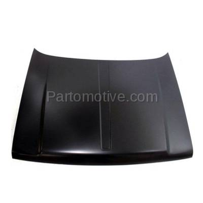 Aftermarket Replacement - HDD-1076 1993-1998 Jeep Grand Cherokee (Base, Laredo, Limited, Orvis, SE, TSi) (without Vent & Louver Holes) Front Hood Panel Assembly Primed Steel - Image 1