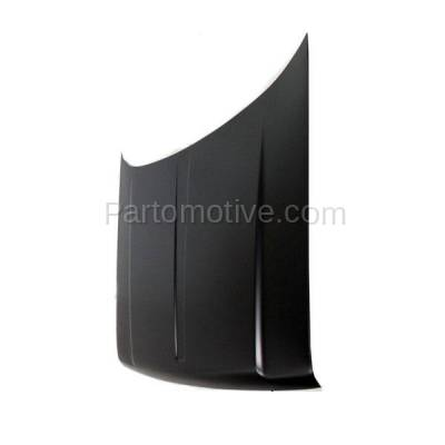 Aftermarket Replacement - HDD-1076 1993-1998 Jeep Grand Cherokee (Base, Laredo, Limited, Orvis, SE, TSi) (without Vent & Louver Holes) Front Hood Panel Assembly Primed Steel - Image 2