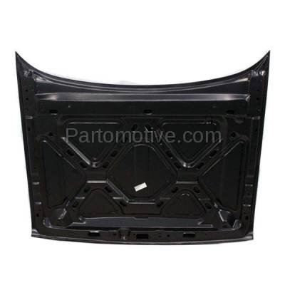 Aftermarket Replacement - HDD-1076 1993-1998 Jeep Grand Cherokee (Base, Laredo, Limited, Orvis, SE, TSi) (without Vent & Louver Holes) Front Hood Panel Assembly Primed Steel - Image 3
