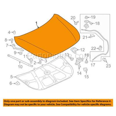 Aftermarket Replacement - HDD-1643 2015-2017 Subaru Legacy & Outback 2.5i/3.6R (Limited, Premium, Sport, Touring) Sedan & Wagon Front Hood Panel Assembly Primed Alluminum - Image 3