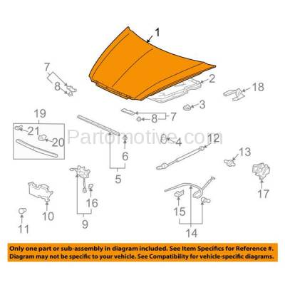 Aftermarket Replacement - HDD-1004 2004-2008 Acura TL (Sedan 4-Door) Front Hood Panel Assembly Primed Steel - Image 3