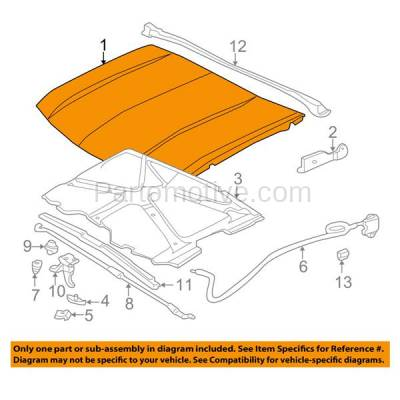 Aftermarket Replacement - HDD-1217 1995-2005 GMC Jimmy & 1994-2004 Sonoma Pickup Truck (2.2 & 4.3 Liter Engine) Front Hood Panel Assembly Primed Steel - Image 3
