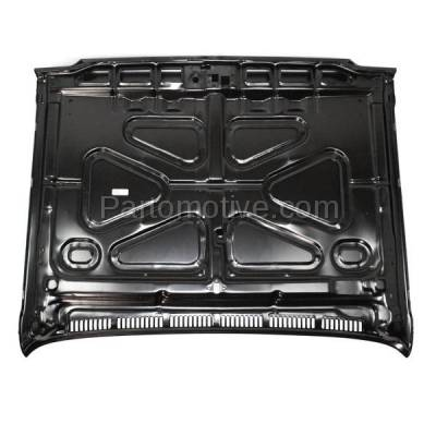 Aftermarket Replacement - HDD-1207 1973-1980 Chevrolet/Chevy/GMC C/K-Series Full Size Pickup Truck, Blazer, Suburban, Jimmy Front Hood Panel Assembly Primed Steel - Image 3
