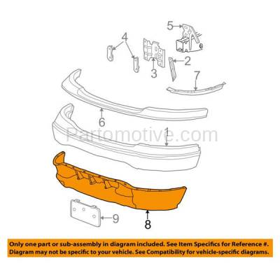 Aftermarket Replacement - VLC-1107F 99-02 Expedition & 99-03 F-150 Pickup Truck Light Duty & 2004 Heritage Front Bumper Lower Spoiler Valance Air Dam Deflector Apron Garnish Panel Gray Textured - Image 3