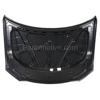 Aftermarket Replacement - HDD-1545 2010-2013 Mitsubishi Outlander (ES, GT, Limited, LS, SE, XLS) Sport Utility 4-Door (2.4 & 3.0 Liter Engine) Front Hood Panel Assembly Primed Steel - Image 2