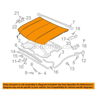 Aftermarket Replacement - HDD-1212 1995-2005 Chevrolet Blazer & 1994-2004 Chevy S10 Pickup Truck (Base, LS, LT, SS, Trailblazer, Xtreme, ZX2) Front Hood Panel Assembly Primed Steel - Image 3